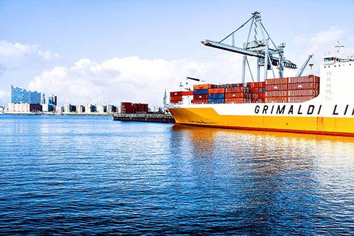 Navio cargueiro dos portos de Itajaí e Navegantes - Santa Catarina/Brasil